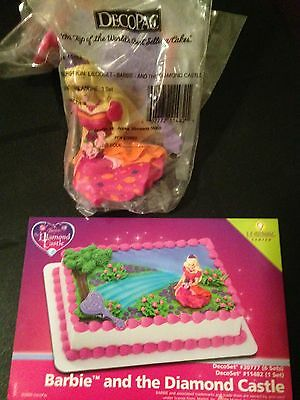 DecoPac BARBIE AND THE DIAMOND CASTLE CAKE TOPPER DECORATING KIT BIRTHDAY NEW ()