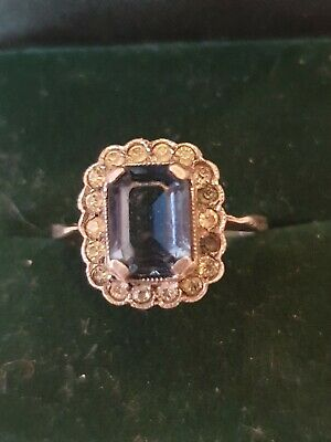 9ct gold And Silver Vintage Ring