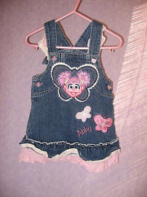 Sesame Street ABBY Jean Dress Ruffle Hem Pink - Sesame Street Kleider