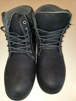 MENS WHITIN BOOTS INSULATED all weather NEW BLACK size 44 USA size 11 NICE @@
