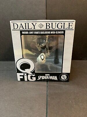 Marvel QFig Daily Bugle Spiderman Web Slinger Lootcrate Limited Edition