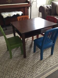 KiddCo wooden table & chairs