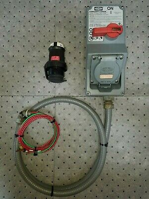 Hubbell Circuit Lock Hblmitl W 20a 3-phase Twist Lock Plug And Socket