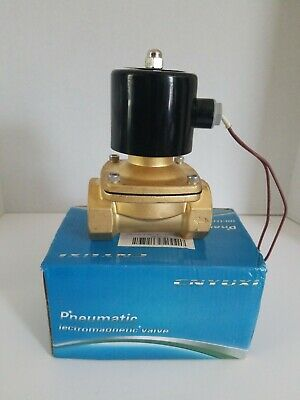 Cnyuxi 1-12 Inch Dc 24v Brass Electric Solenoid Valve Water Air Fuels Nc Valve