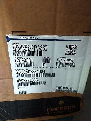 Zp34k5e-pfv-830 34500 Btuh Copeland Scroll Compressor New