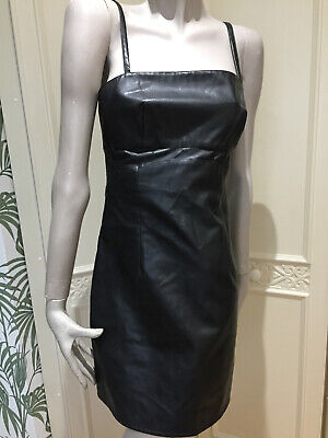 Versace Jeans Couture Faux Leather Dress Size 28,42,(uk 10) 19.99p
