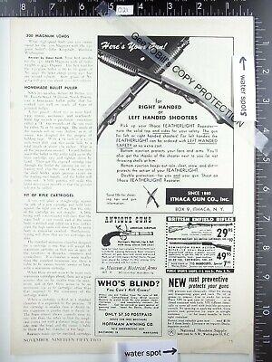 1952 Ithaca gun right left handed Featherlight shotgun vintage advertisement ad