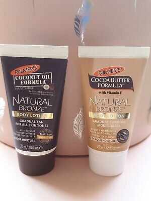 Palmers Coconut Natural Bronze Gradual Tanning body Lotion 40ml and Moisturiser