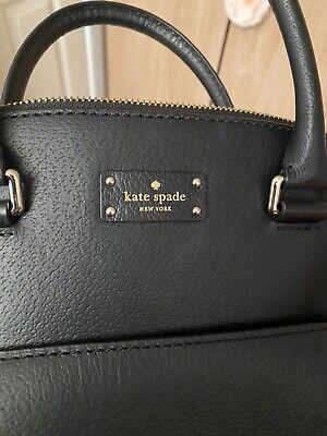 Kate Spade Black Leather Grab Bag Dome Shaped
