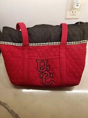 (Used University of South Carolina USC Gamecocks Red Quilted Purse Handbag)