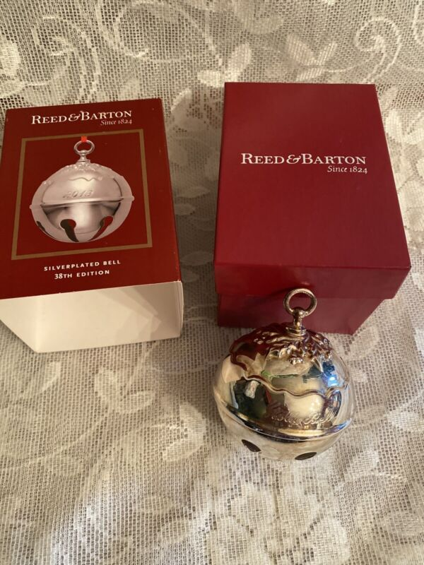 Reed & Barton Silver Plated 38th Edition Holly Bell Christmas Ornament 2013