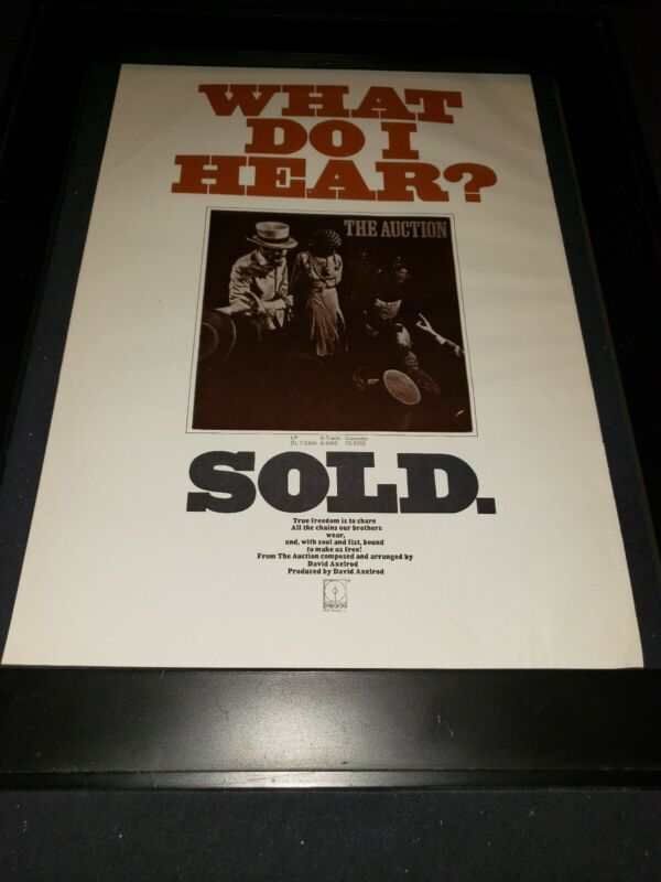 David Axelrod The Auction Rare Original Promo Poster Ad Framed!