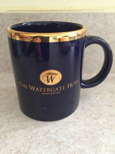 The Watergate Hotel Washington DC Rare Navy/Gold Logo Ceramic Coffee Mug