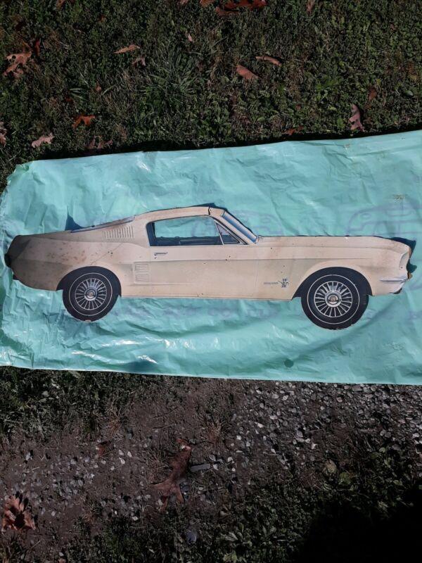 1967 Mustang Fastback Dealer Showroom Sign