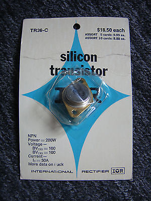 Vintage New Silicon Transistor Tr36-c - Made By International Rectifier