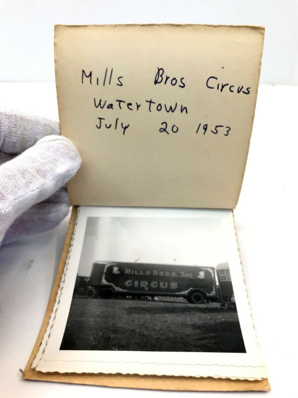 Vintage Circus Photo Album 1953 Mills Bros in Watertown NY pictures photographs