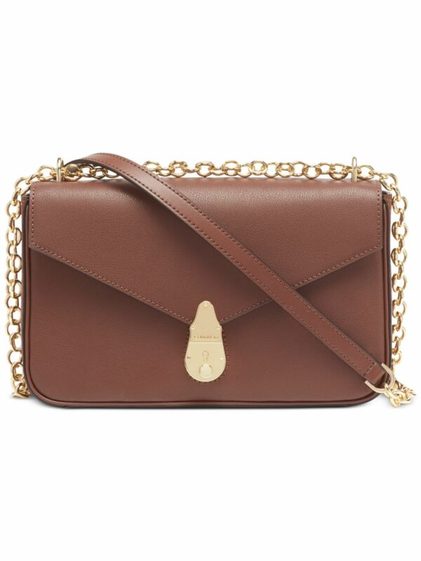 CALVIN KLEIN Brown Leather Shoulder Bag