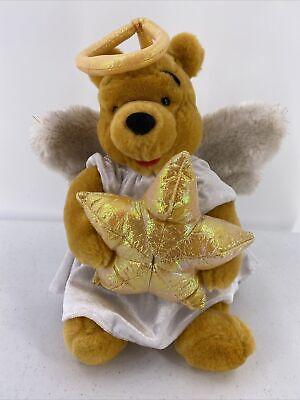 Disney Store Winnie the Pooh Angel Star Plush 12 inch Christmas Tree Topper