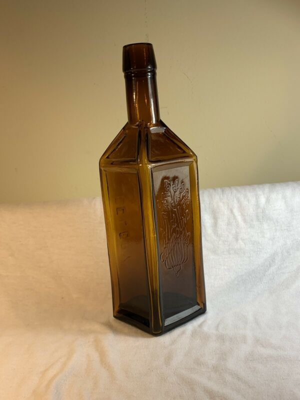 Antique Rare Original 1882 M.K. Paine's Celery Compound Semi Cabin Bottle MINT!!