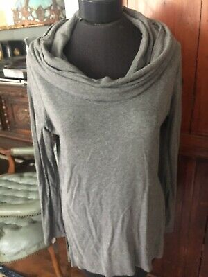 Michael Stars Gray Off Shoulder/cowl Neck Jersey Tunic Open Size M Fitted Michael Stars Jersey Tunic