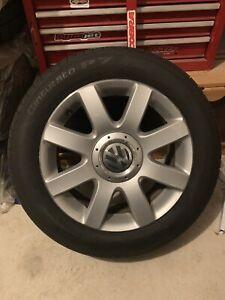 """Mint Condition VW 16"""" 5x112 Wheels With Pirelli All Seasons"""
