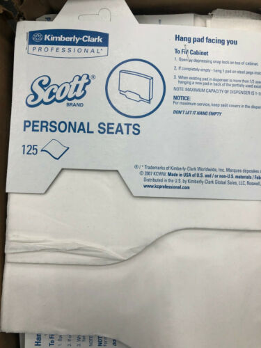 3000x SCOTT Toilet seat covers 7410 personal clean janitorial 741010 commode