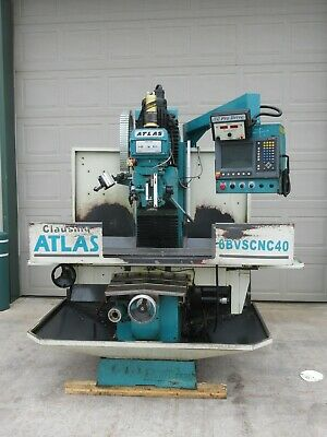 Clausing Atlas Cnc Bed Mill W Acu-rite Millpwr 3 Axis Control Conversational