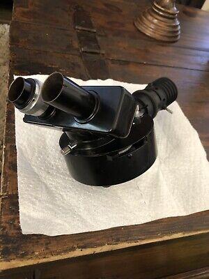 Wild Heerbrugg Microscope Illuminator Attachment V14x With Binocular Head