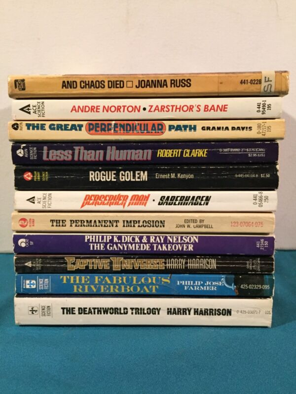 Vintage Lot Of Science Fiction Paperback Books 11 In One Great Lot Look Here
