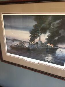 HMCS action painting WWII