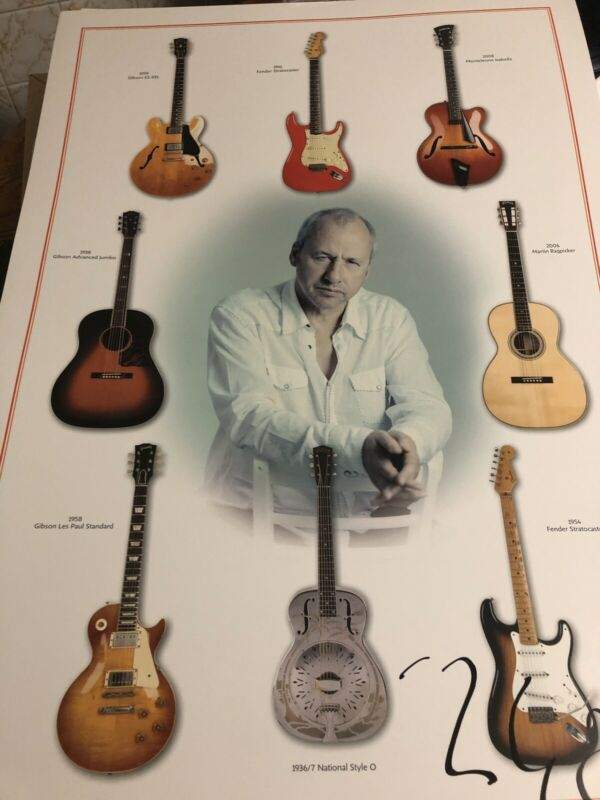 Autographed Mark Knopfler Lmtd Ed Concert Poster Signed Numbered