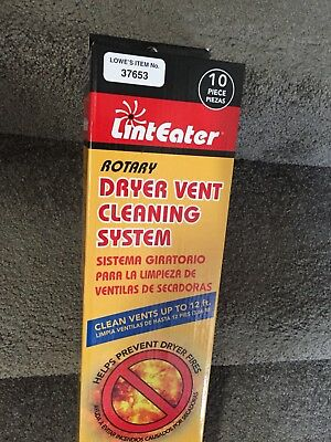 LINT EATER ROTARY DRYER VENT CLEANING SYSTEM