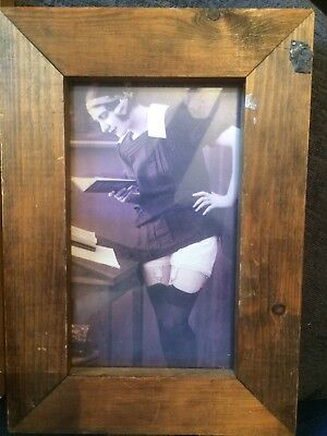 Framed Early 1900s Boudoir Picture
