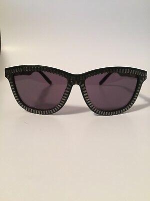 NWT ALEXANDER WANG X LINDA FARROW sunglasses ZIPPER Black & Silver case new AW 3