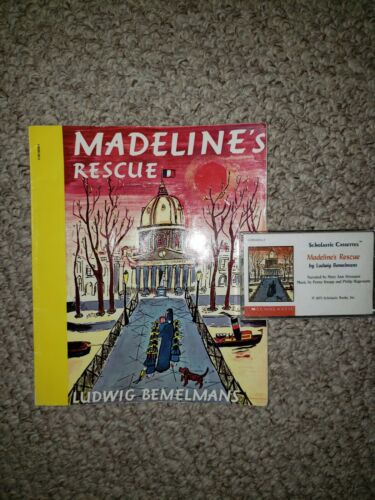 Scholastic 1973 Madeline s Rescue Reading Book Audio Cassette By Bemelmans - $5.00