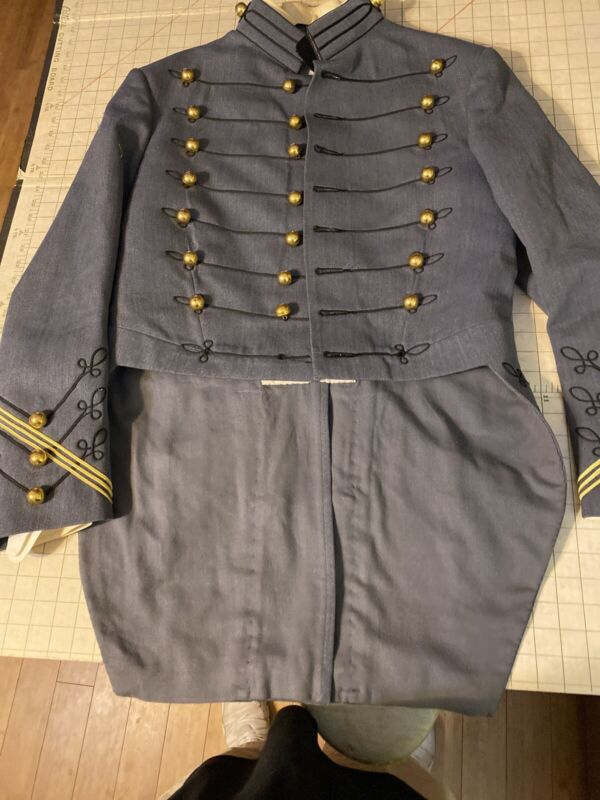USMA West Point Cadet Army Military Dress Uniform Tails Parade Wool Jacket Brass
