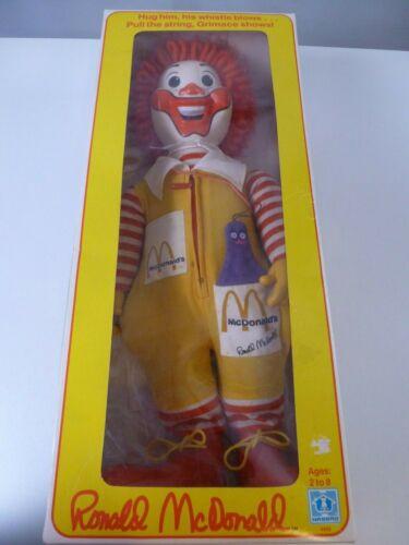 "Hasbro Ronald McDonald With Box Vintage 20"" Whistle Rare Colorful 1978 Huggable"