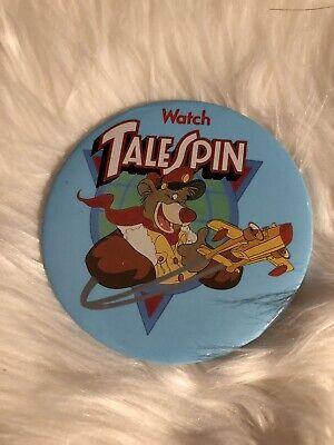 """Rare Vintage Disney TailSpin 3"""" Round Pinback Button Pin Baloo"""