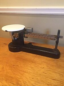 Antique Scale - Triple Beam Balance Scale - Working Condition