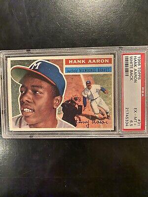 1956 Topps Hank Aaron White Back #31 PSA 6.5 EX-MT+