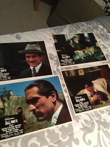 THE GODFATHER--PART II----------4-original COLOR LOBBY CARDS