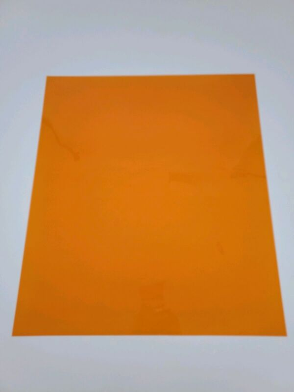 """*NEW* ORANGE Color Gel Sheet Filter for Photo Theater Stage Party Lights 21""""x24"""""""