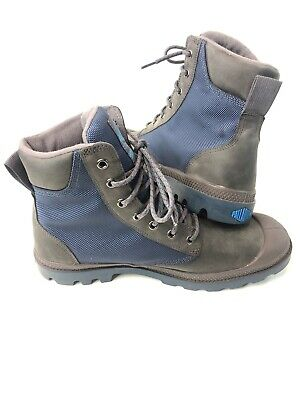 Palladium Grey Waterproof Boots Men's Size 9.5 Woman 11 In Excellent Condition
