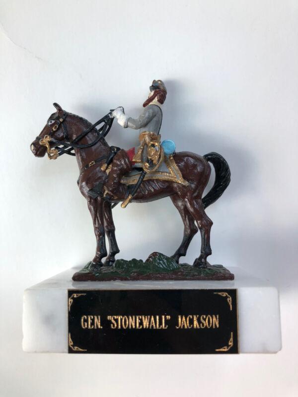 "General ""Stonewall"" Jackson Figure On Marble Base"