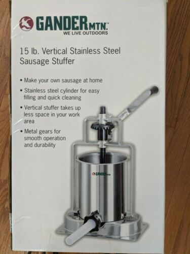 GANDER MTN 15LB Sausage Stuffer Vertical Stainless Steel Meat Fillers