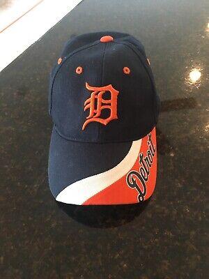Detroit Tigers Hat Orange D Snapback Baseball Cap Tri Color Rim Adjustable WOW!