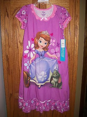 Disney STORE PRINCESS SOFIA FIRST NIGHTGOWN NIGHT SHIRT GOWN Sleepwear PJ 10 NWT Disney Store Princess Pj