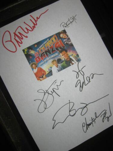 The Adventures of Buckaroo Banzai Signed Script X6 Peter Weller Ellen Barkin RPT