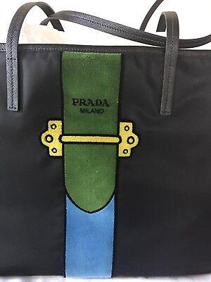 Prada Nylon Trompe L'oeil Velvet Tote Bag(Authentic) Retail $1650