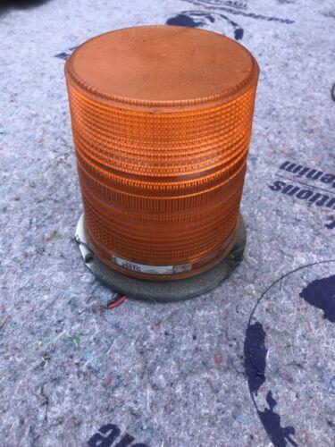 Amber strobe light. Star warning systems 255TC 12-48 volt. F